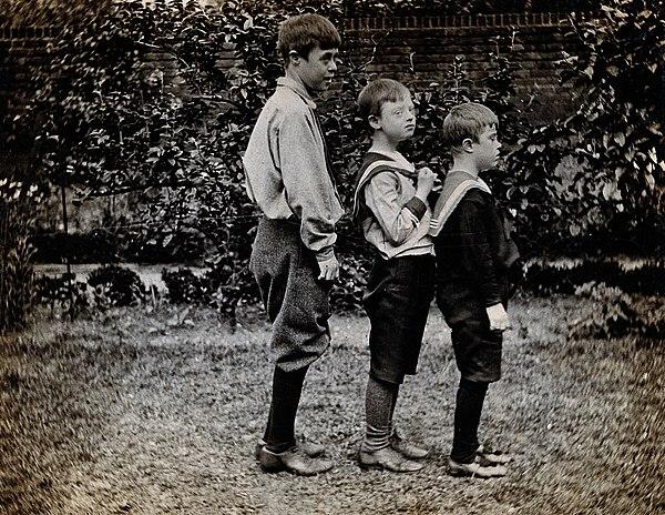 Tre pojkar med downs syndrom