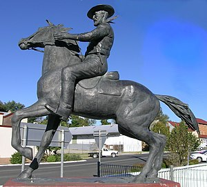Uralla, New South Wales - Statue of Captain Thunderbolt at the intersection of New England Highway and Thunderbolts Way, Uralla, NSW