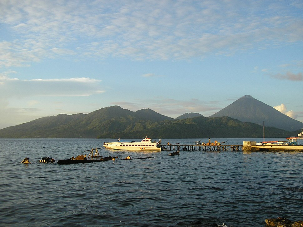 Tidore Island, as seen from Ternate Island.