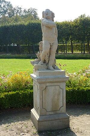 """Deutsch: Skulptur """"Choleriker"""" der """"Vier Tempe..."""