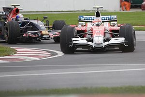 Timo Glock - Glock driving for Toyota F1 at the 2008 Canadian Grand Prix