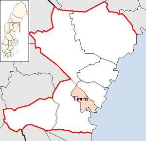 Timrå Municipality in Västernorrland County.png