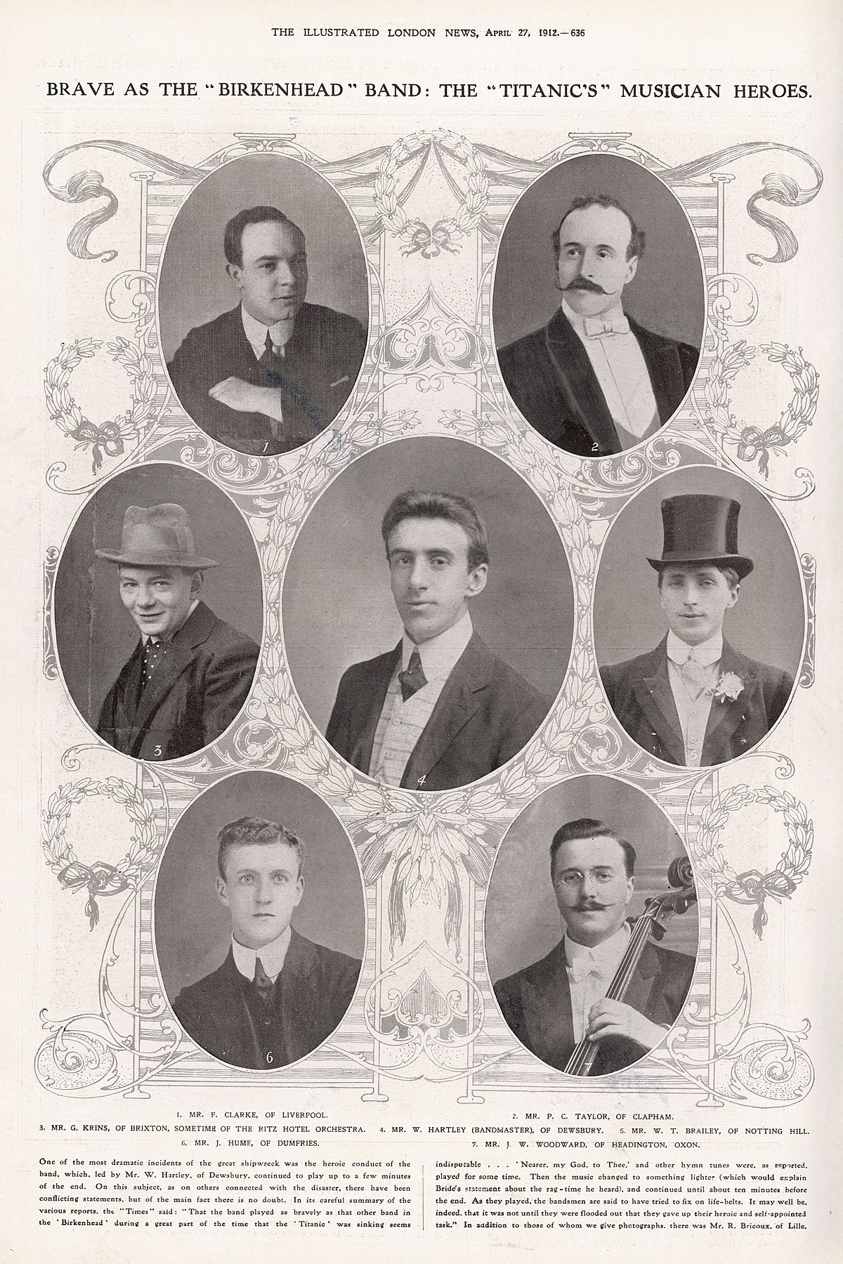 musicians of the rms titanic wikipedia