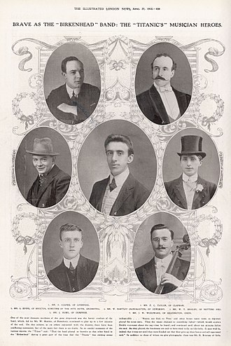Musicians of the RMS Titanic - Image: Titanic orchetra