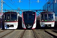 Toei subway Magome depot Asakusa Line Rolling stock 20171209.jpg