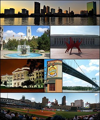 Toledo, Ohio - Images, from top left to right: Downtown Toledo, University Hall, Toledo Museum of Art, Lucas County Courthouse, Tony Packo's Cafe, Anthony Wayne Bridge, Fifth Third Field