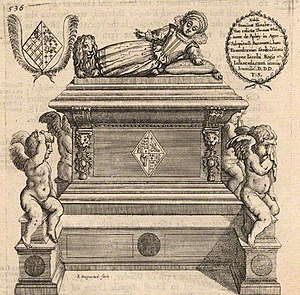 Mary Stuart (1605–1607) - A later depiction of Mary's tomb.