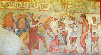 Etruscan origins - Fresco in the François Tomb (4th cenury BC)