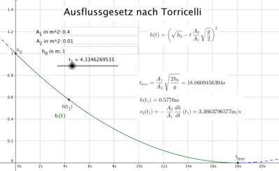 Uploadzeit Berechnen : ausflussgeschwindigkeit physik schule ~ Themetempest.com Abrechnung