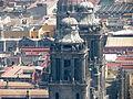 Torres de la Catedral Metropolitana desde la Torre Latinoamericana.JPG