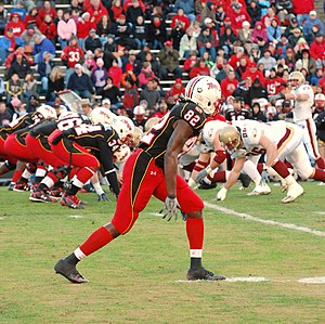 2009 Maryland Terrapins football team - Torrey Smith lines up to play Boston College.