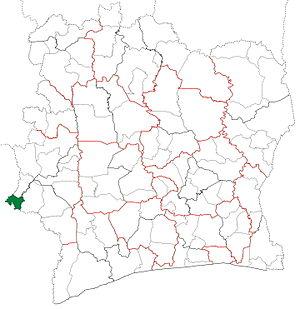 Toulépleu Department - Image: Toulépleu Department locator map Côte d'Ivoire