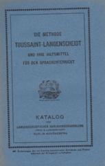 Katalog der Langenscheidtschen Verlagsbuchhandlung