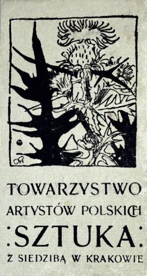 "Society of Polish Artists ""Sztuka"" - Image: Towarzystwo Sztuka 1897 (logo)"