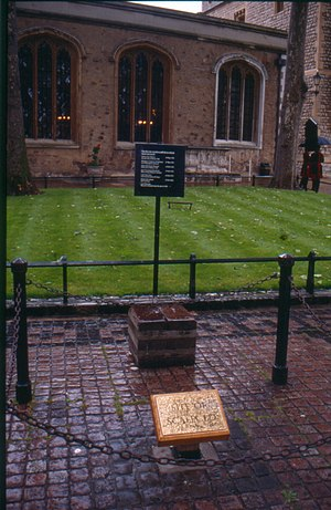 Tower Green - Side of the Church of St Peter ad Vincula viewed across Tower Green