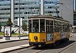 Tram along south side of Piazza Duca d'Aosta, Milan.jpg
