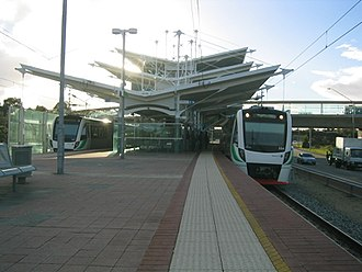 Stirling railway station, Perth - Northbound view in August 2005