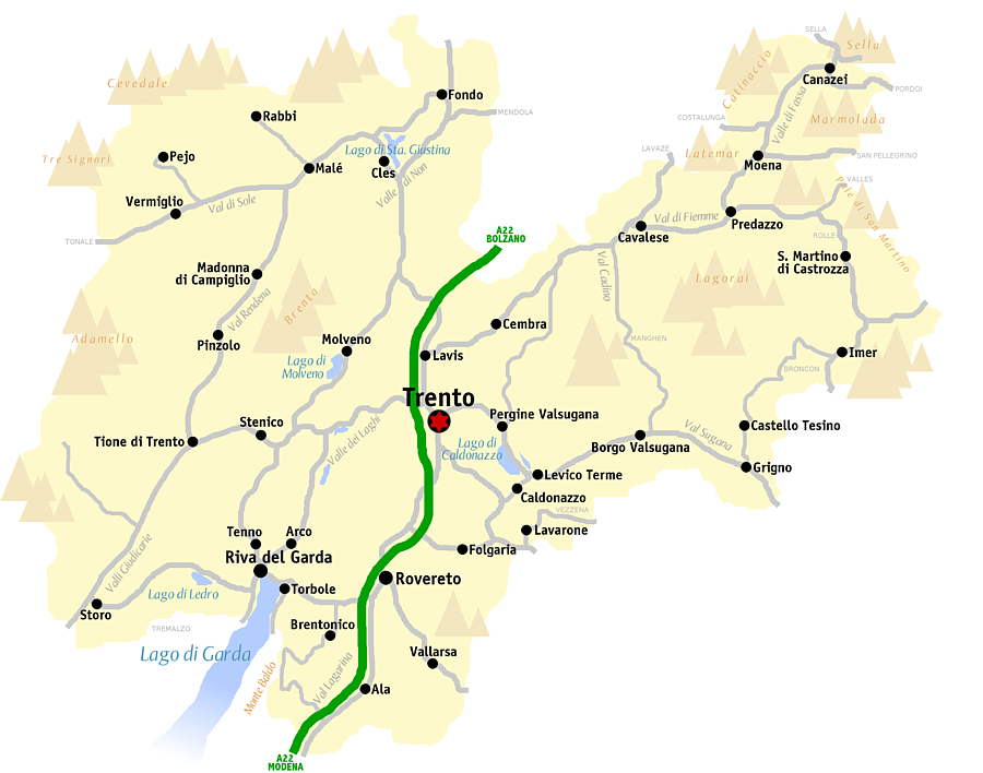 Trento mappa