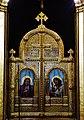 Trieste Tempio serbo-ortodosse della Santissima Trinità e di San Spiridone Innen Iconoastasi 7.jpg