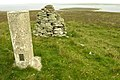 Trig Point and Cairn, highest point on Gairsay (102 metres) - geograph.org.uk - 912028.jpg