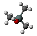 Ball and stick model of trimethylsilanol