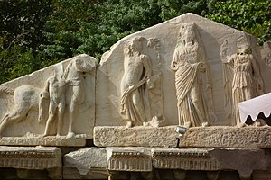 """Oea - Frontal section of the Temple """"Genius Coloniae"""""""