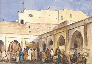 Truman Seymour - Image: Truman Seymour, Moroccan Market with Red Flag