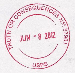 Truth or Consequences, New Mexico - A postmark from Truth or Consequences