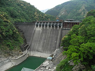 Tsukabaru Dam dam in Miyazaki Prefecture, Japan