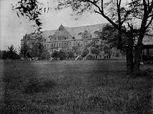 Tulane University - A view of Gibson Hall in 1904, located on the uptown campus of Tulane University.