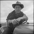 Tule Lake Relocation Center, Newell, California. Jimmy Inahara, 24, farmer-evacuee from Stockton, C . . . - NARA - 538254.tif