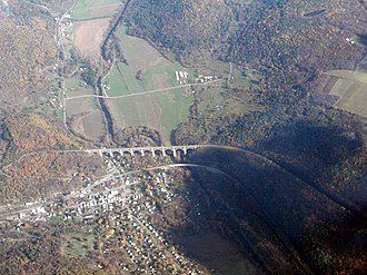 Tunkhannock Viaduct - Image: Tunkhannock Viaduct From Air