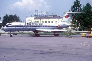 Aeroflot Flight 7841 - Soviet Aeroflot Tupolev Tu-134A, similar to that involved in the accident