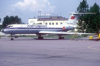 Aeroflot Flight 7841 - Soviet Aeroflot Tupolev Tu-134A, similar to that involved in the accident