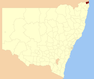 Tweed Shire - Location within New South Wales