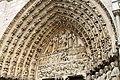 Tympanum of the Portail du Jugement Dernier, Notre Dame de Paris, November 2012.jpg