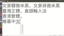文件:TypingChineseCharactersWithCangjieGedit383Ubuntu1310Screencast.webm