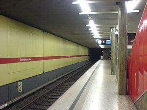 Untersbergstraße (Munich U-Bahn) - Platform of the Untersbergstraße subway station.