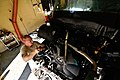 U.S. Air Force Staff Sgt. David Hansen, a vehicle mechanic assigned to the 177th Logistics Readiness Squadron, New Jersey Air National Guard, does repair work on the engine of an R-11 refueling truck at Atlantic 131106-Z-NI803-055.jpg