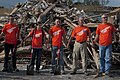 U.S. Airmen based at Sheppard Air Force Base, Texas, pray for tornado victims June 8, 2013, in Moore, Okla 130608-F-ZB240-043.jpg