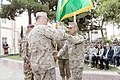 U.S. Marine Corps Gen. Joseph F. Dunford Jr., left foreground, the outgoing commander of the International Security Assistance Force (ISAF) and U.S. Forces-Afghanistan (USFOR-A), takes the ISAF colors from Sgt 140826-D-HU462-511.jpg