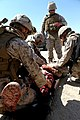 U.S. Marines with Combat Logistics Regiment 2, 2nd Marine Logistics Group, undergo realistic combat training for first responders during Enhanced Mojave Viper (EMV), on Marine Corps Air Ground Combat Center 120906-M-KS710-106.jpg