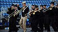 U.S. Navy musicians with the U.S. Naval Forces Europe band rehearse one of the songs it will play during the Edinburgh tattoo to be held outside Edinburgh, Scotland, castle July 30, 2012 120730-N-VT117-685.jpg
