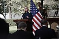 U.S. Secretary of State Hillary Rodham Clinton, left, gives remarks during a press conference with Afghan President Hamid Karzai at the Presidential Palace in Kabul, Afghanistan 111020-S-PA947-801.jpg