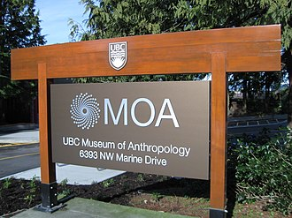 Museum of Anthropology at UBC - 2010 UBC MOA sign.