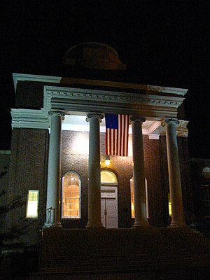 Memorial Hall (Newark, Delaware) - The north entrance of the building
