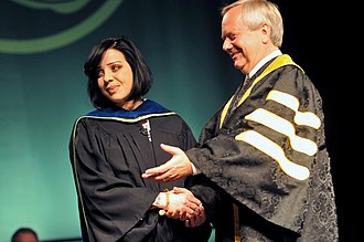Bif Naked - Bif Naked at the University of the Fraser Valley receiving an honorary degree