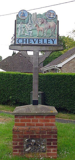 Cheveley - Signpost in Cheveley