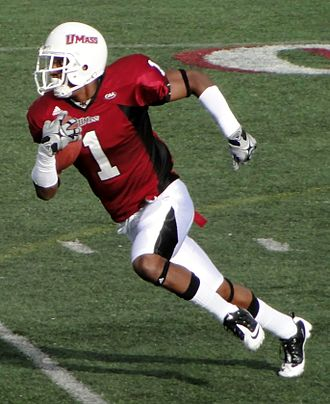 UMass Minutemen and Minutewomen - Julian Talley returns a punt versus the William & Mary Tribe at Warren McGuirk Alumni Stadium in Amherst, Massachusetts