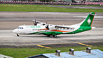 UNI Air ATR 72-600 B-17001 Departing from Taipei Songshan Airport 20150321b.jpg